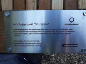 Lehrlingsprojekt Liechtenstein-Weg