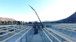 Dachkonstruktion Stall